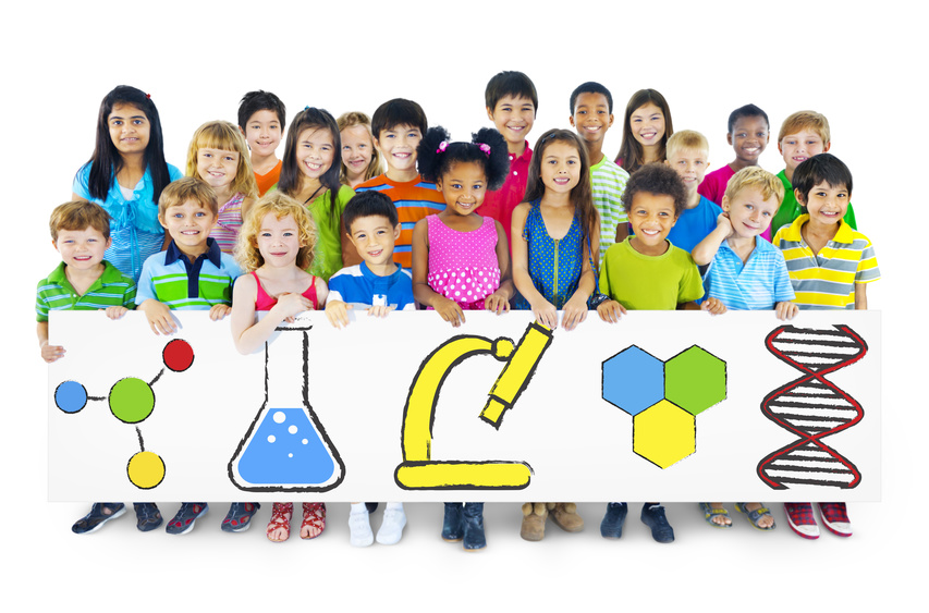Children Holding Billboard with Education Concepts